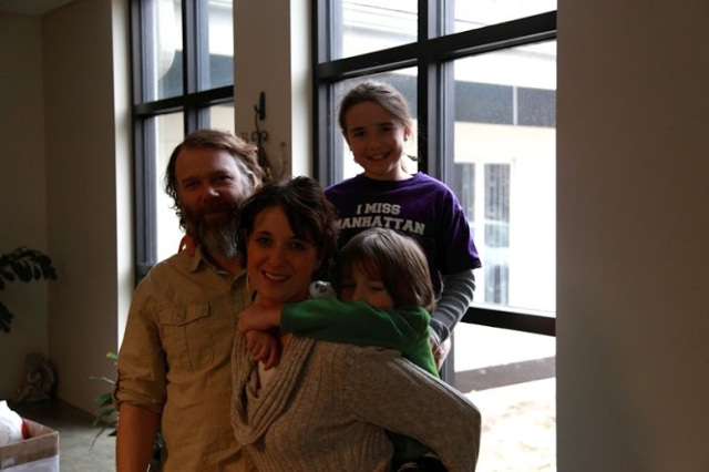 """""""Practicing Parents"""" editor Jill Clingan with her family."""