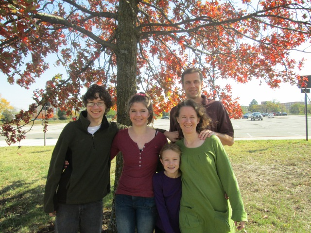 Supervising Editor, Joanna Harader, with her family.