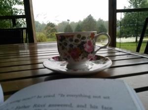 picture tea on porch