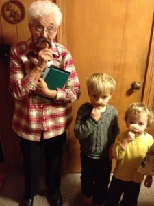 gma and boys