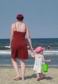 B & F at beach