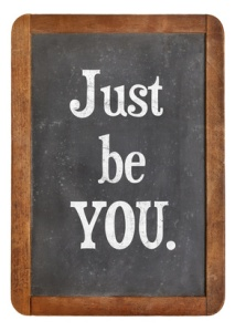 just be you advice