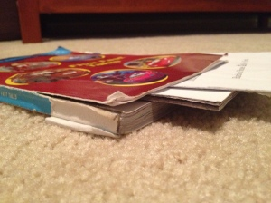 photo of torn book